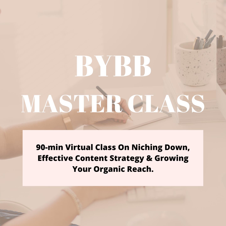 Build Your Boss Brand Master Class