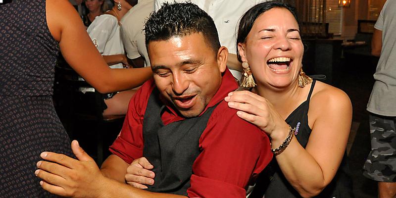 happy couple Bachata Dancing