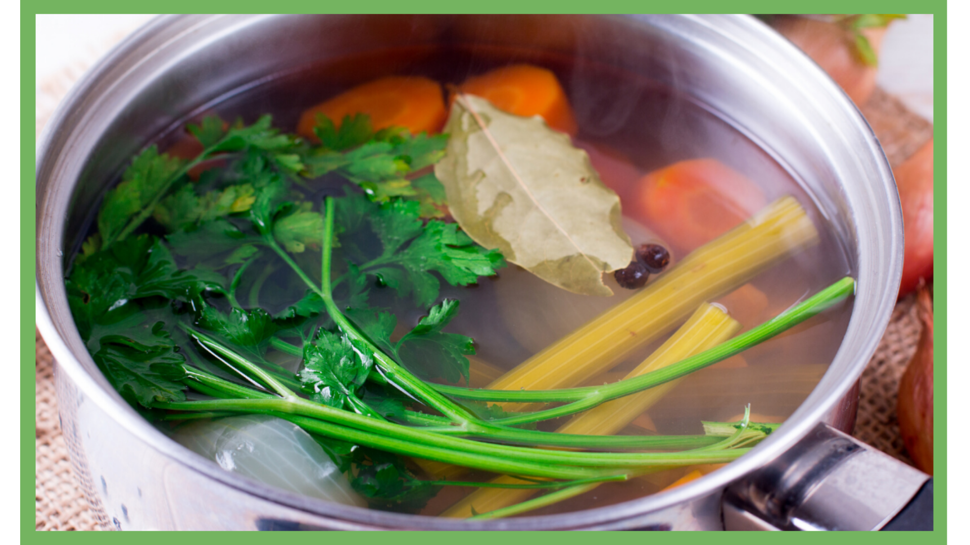 Nourishing Broth pot with fresh vegetables