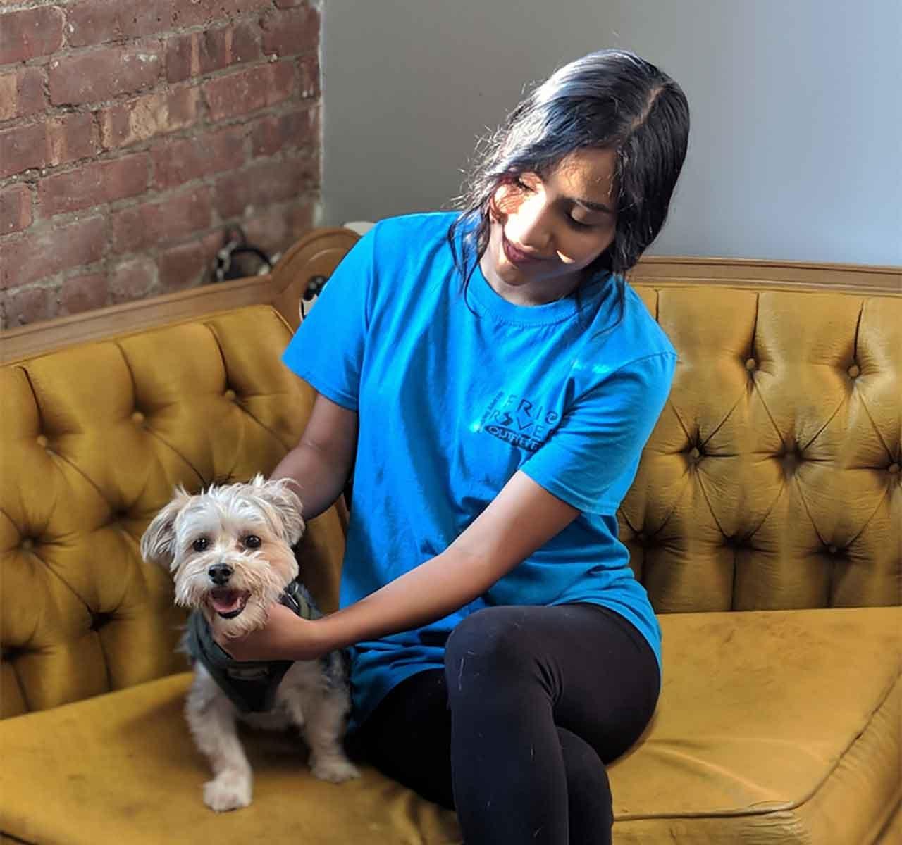 Animal Hospice Group - Caregiver with dog