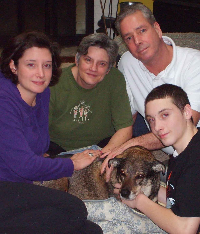 Animal Hospice Group - Dog Jenna and family