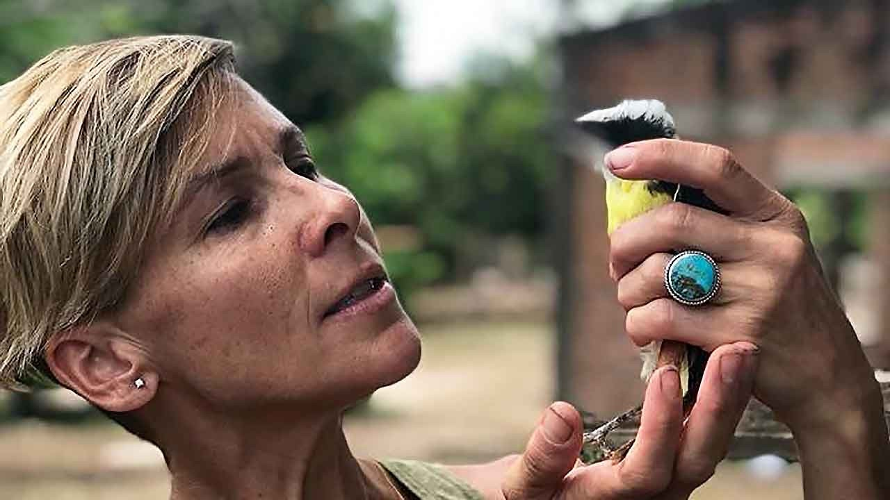 Animal Hospice Group - Amy holding injured bird