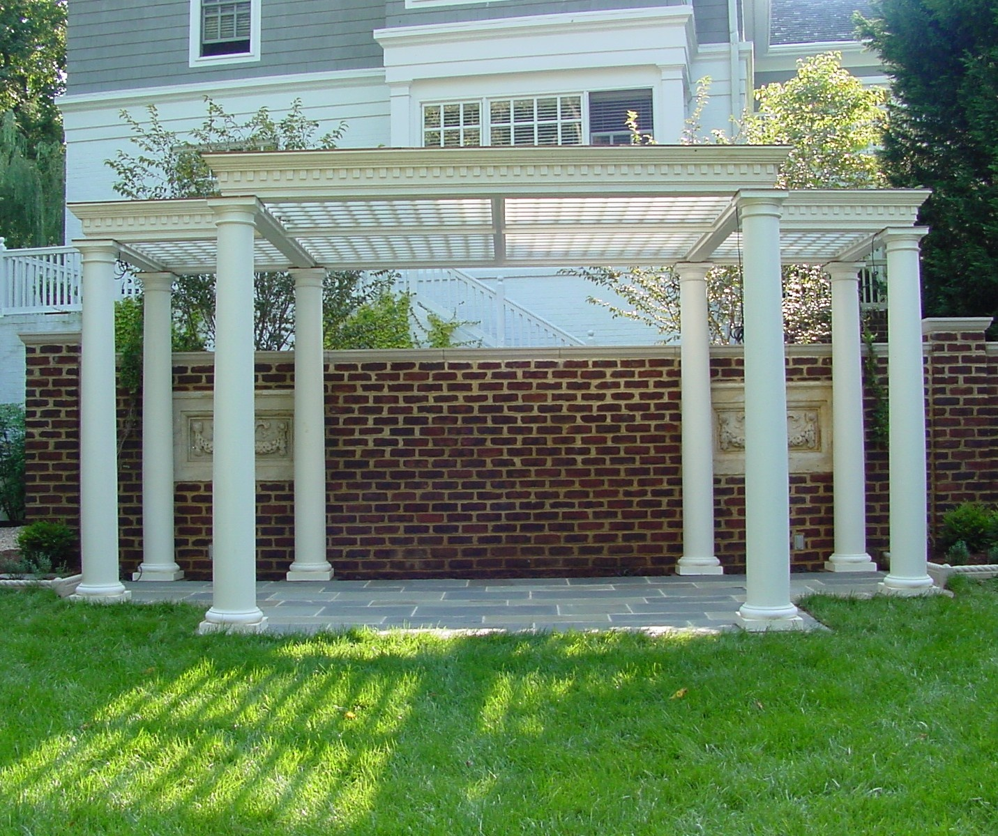 Pergola with trellis ceiling or roof for DIY