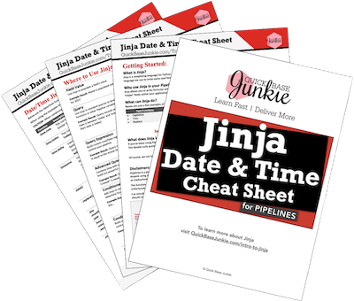 Jinja Date & Time Cheat Sheet for Quickbase Pipelines