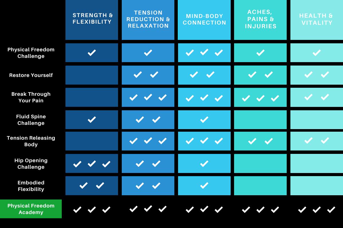 Movement Monk Course Comparison Chart