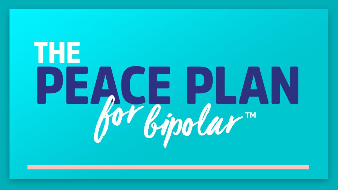 Banner image for The Peace Plan for Bipolar program