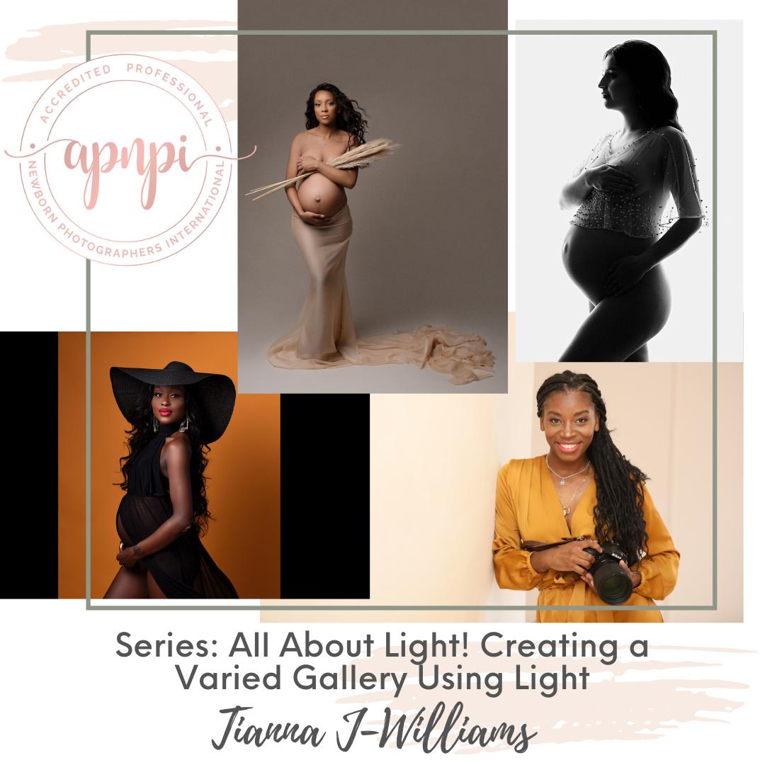 Tianna J-Williams Maternity Photography Lighting APNPI Academy Course
