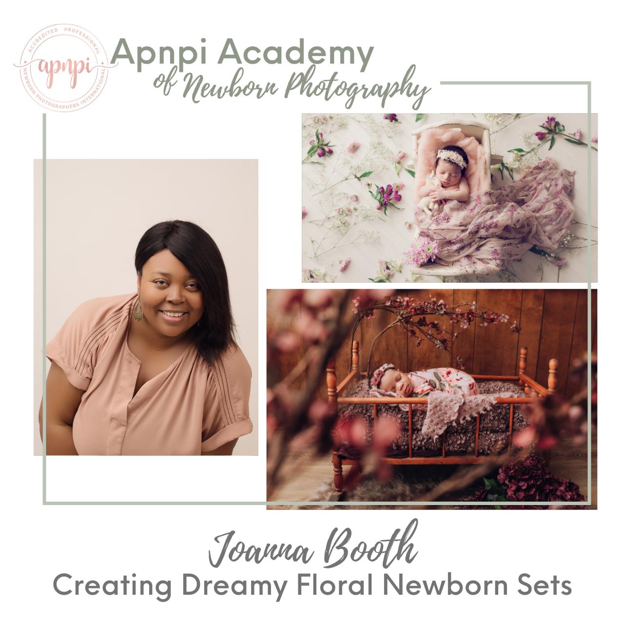 Joanna Booth Newborn Photography Dreamy Floral APNPI Academy Course