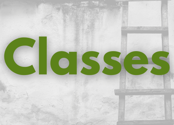 Image of a ladder with Classes text