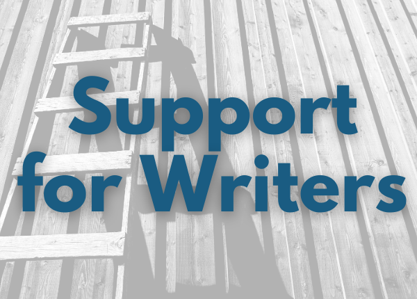 ladders with text for support for writers