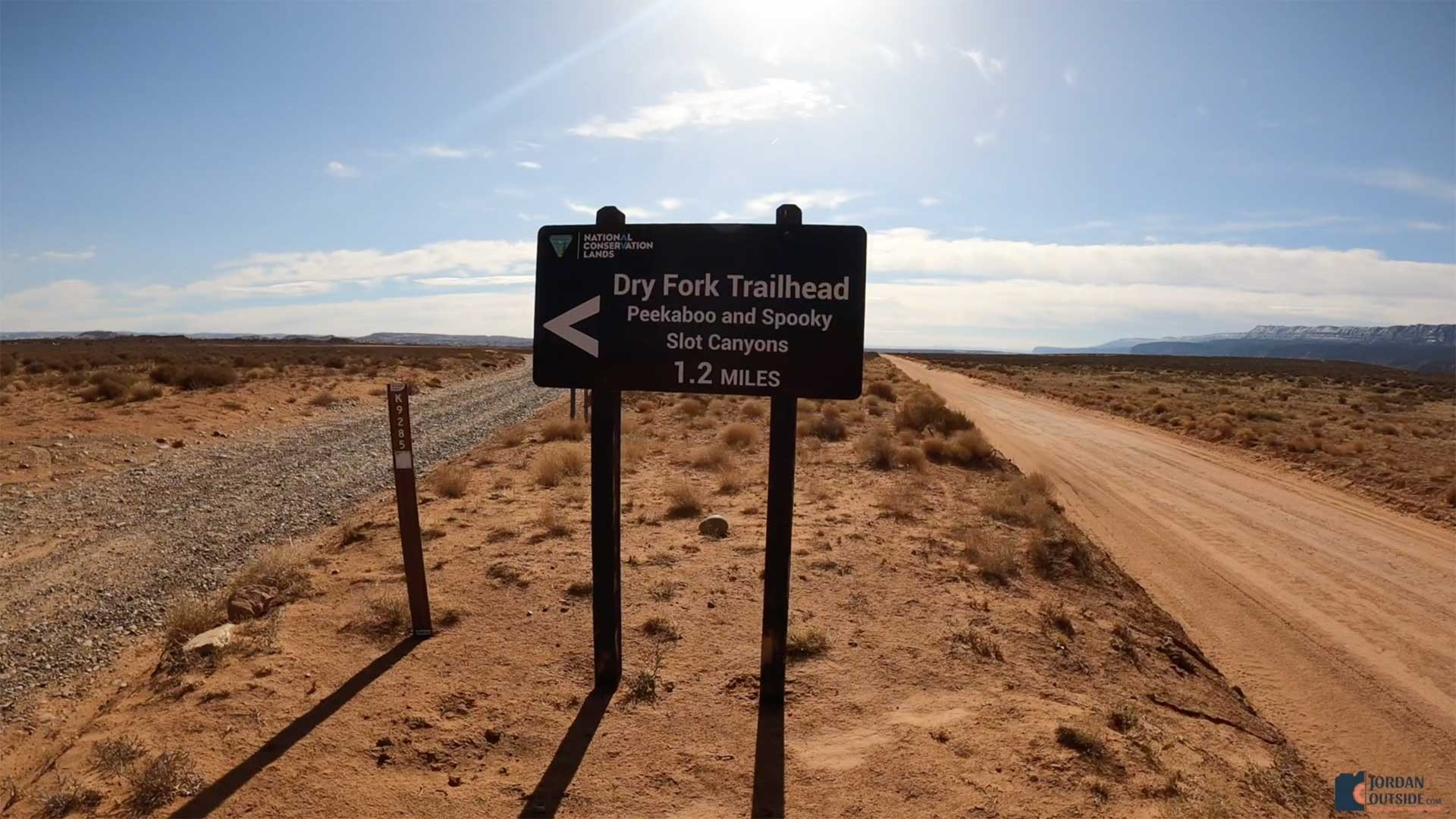 The Dry Fork Trailhead Sign
