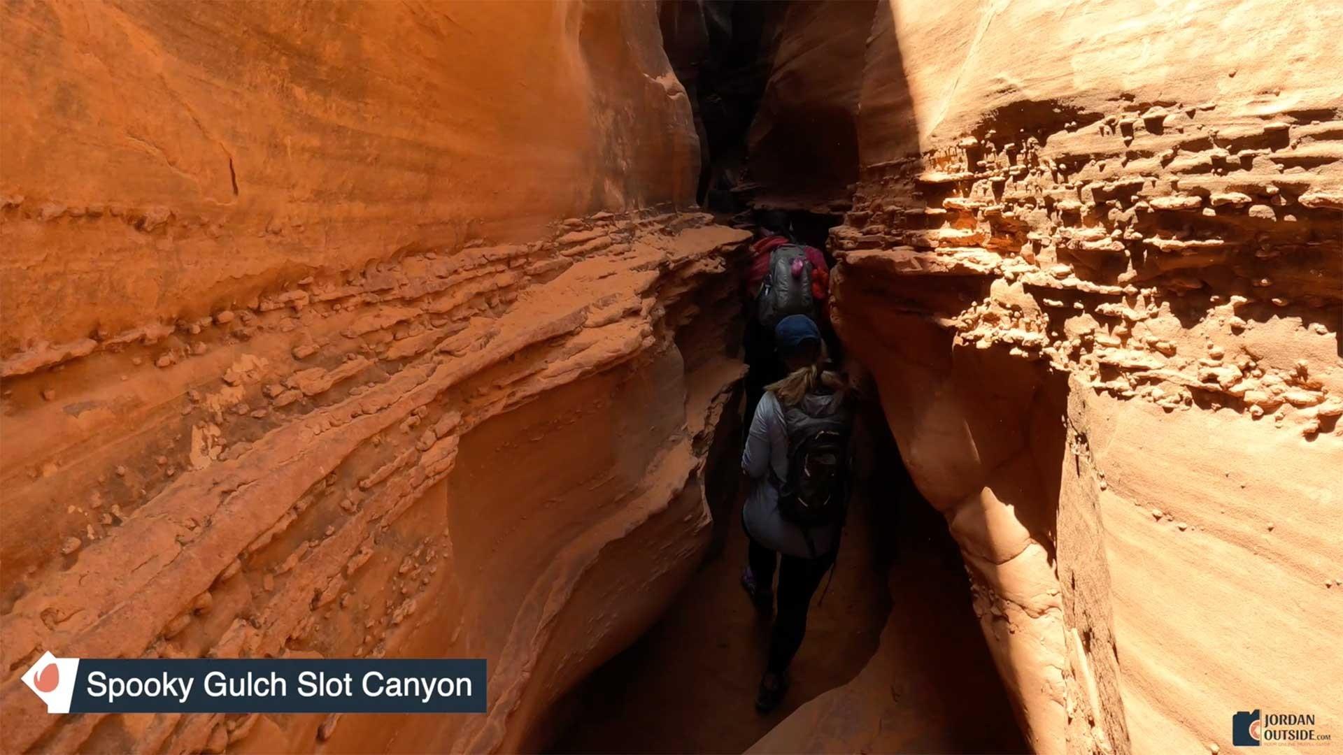 Entering Spooky Gulch Slot Canyon View