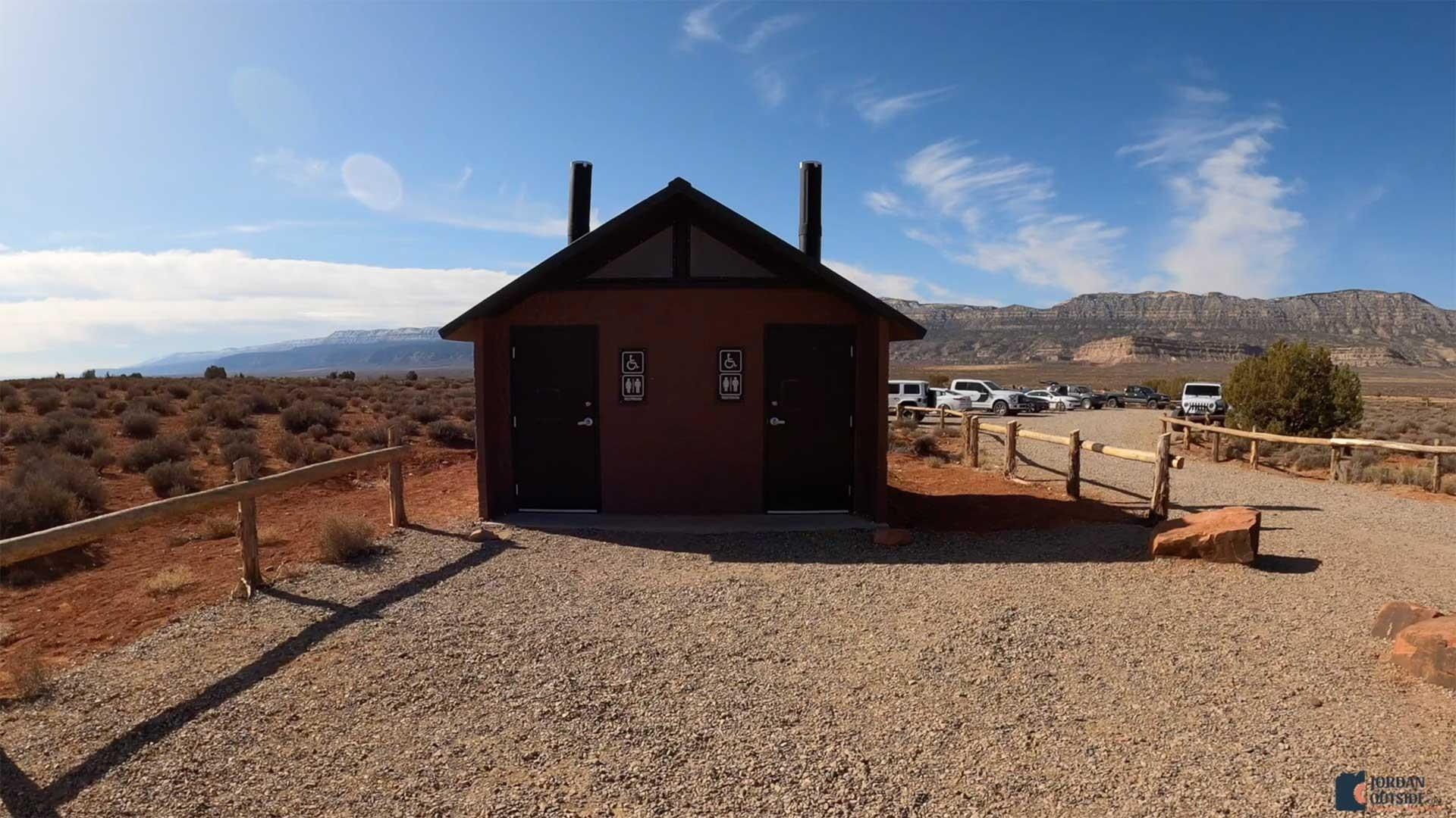 The Dry Fork Trailhead Bathrooms