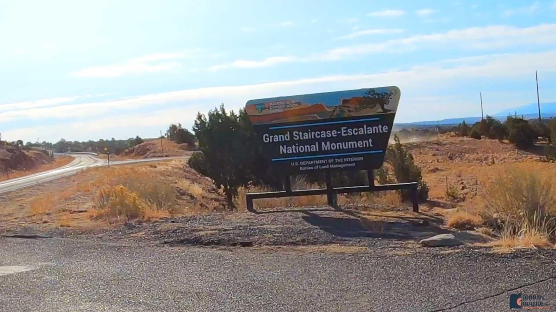 Grand Staircase-Escalante National Monument Sign, Utah