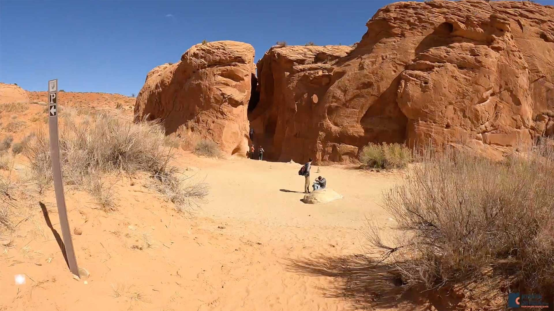 The Entrance to Peek-A-Boo Slot Canyon