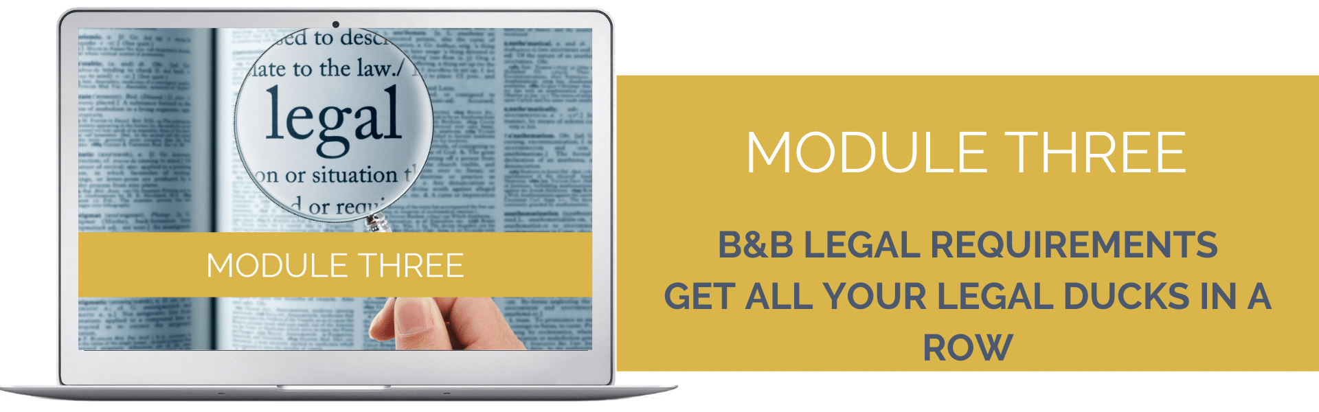 BANNER IMAGE - module 3 B&B legal requirements
