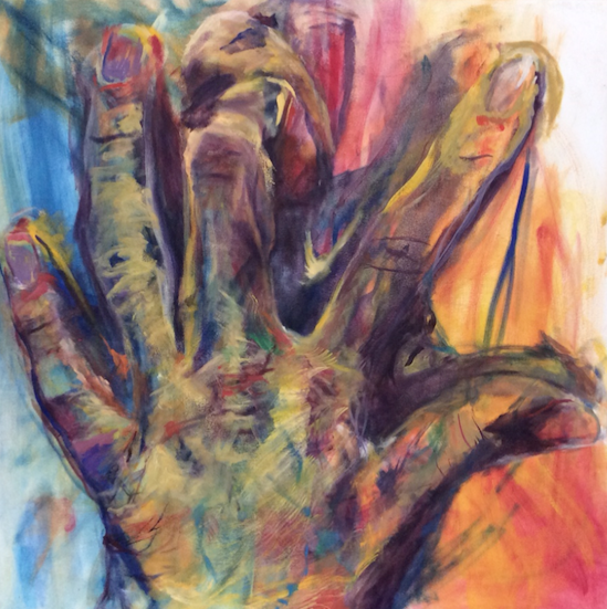 Feature Artist Julie Fry Oil painting study of hands