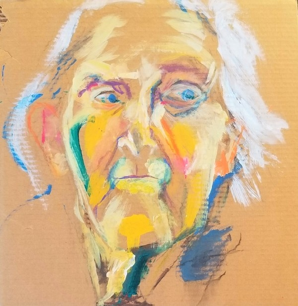 Feature Artist Julie Fry Oil Painting on Cardboard