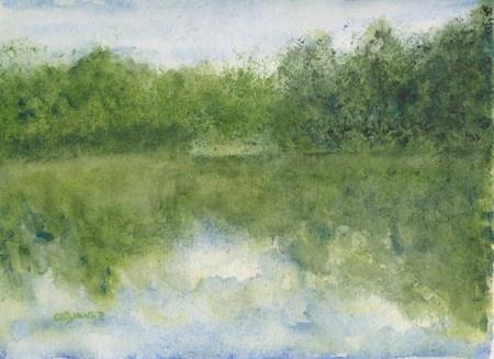 Feature Artist Elizabeth Reich's landscape watercolor painting