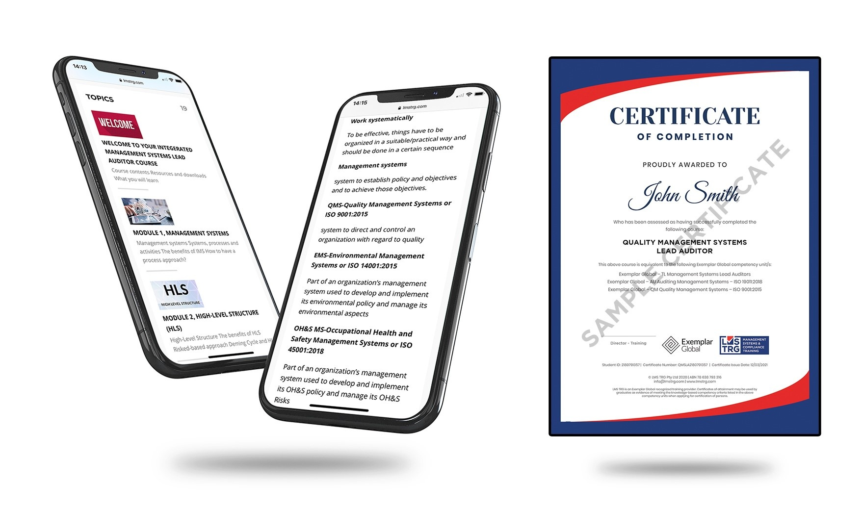 ISO 9001 Quality Management Systems (QMS) Lead Auditor ISO Certificate