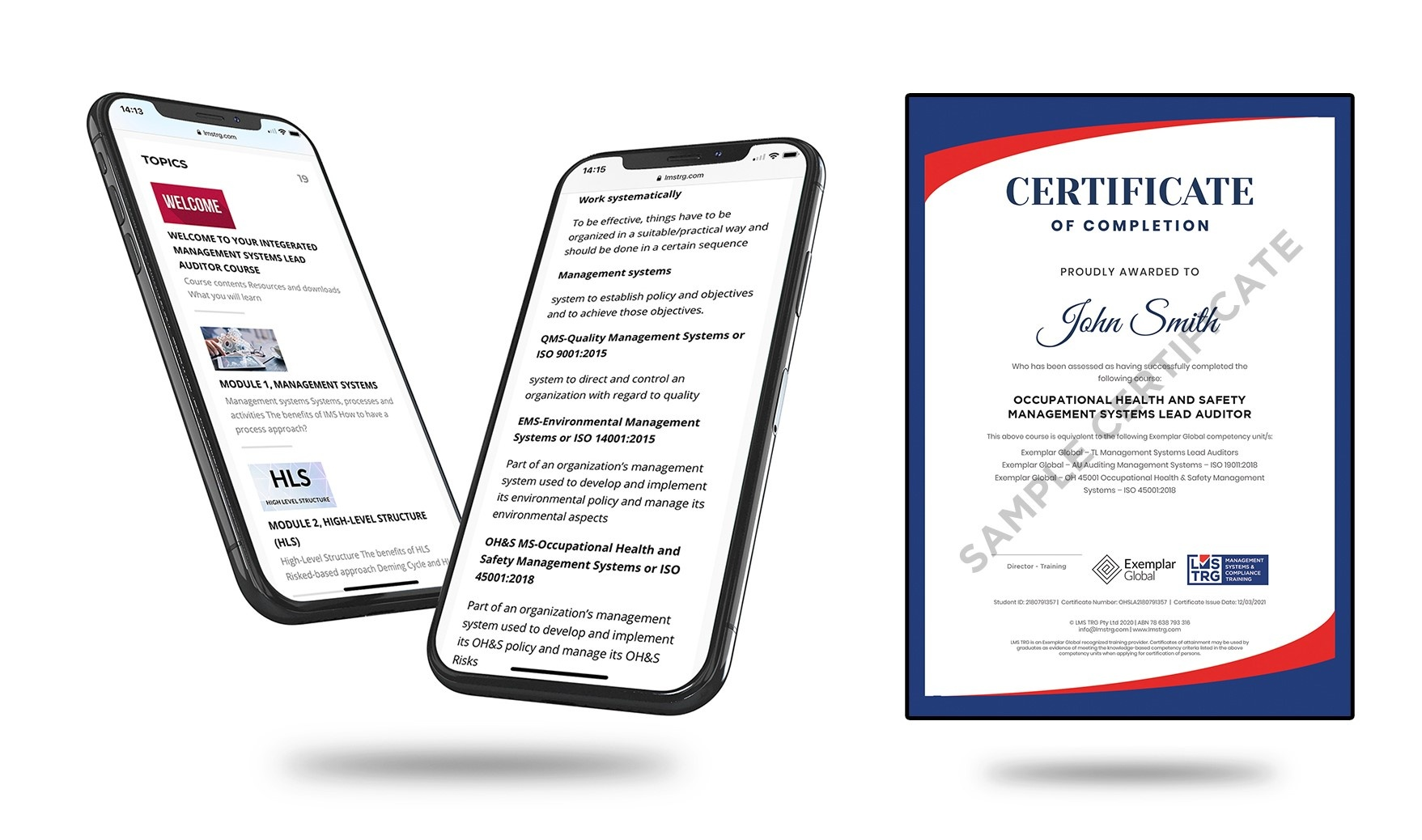 ISO 45001 Occupational Health and Safety Management Systems (OH&S) Lead Auditor ISO Online Certificate