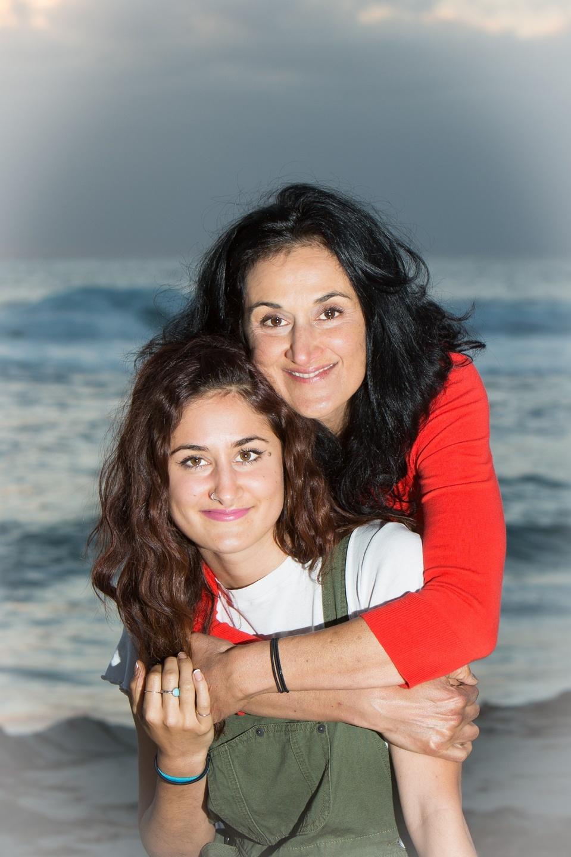 Linda Vazin and Daughter, Pia at the ocean.