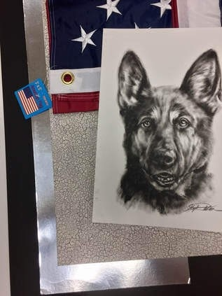 Army dog painting