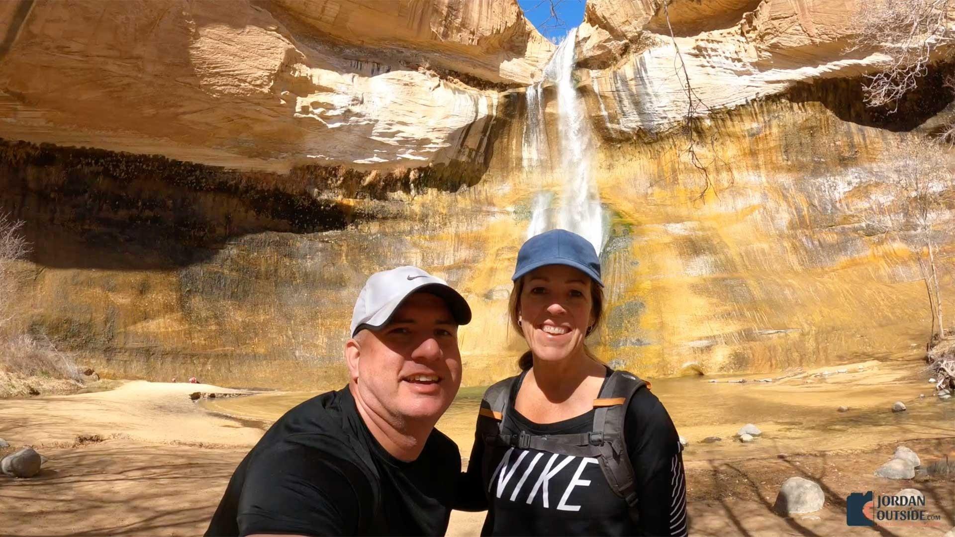 Jordan and Julie at Lower Calf Creek Falls