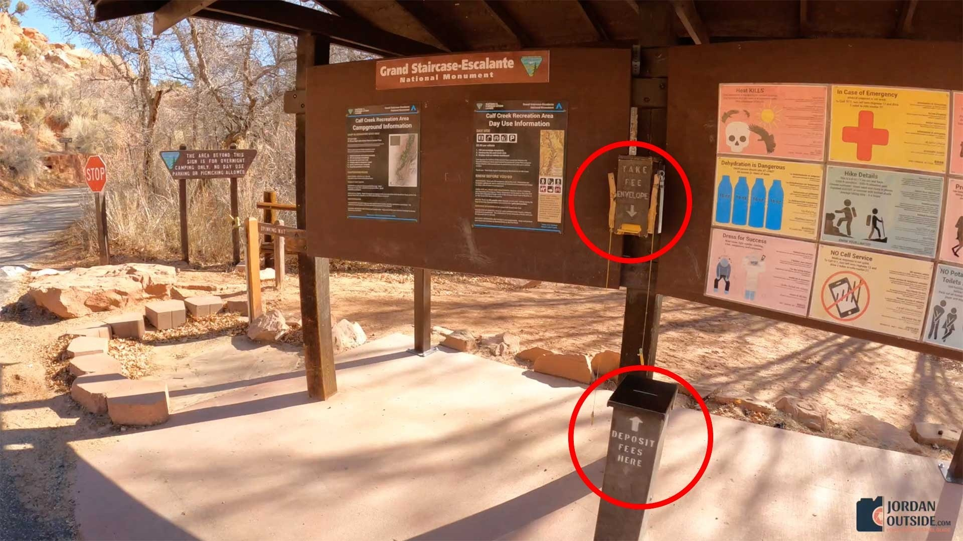 Where to pay at Lower Calf Creek Falls