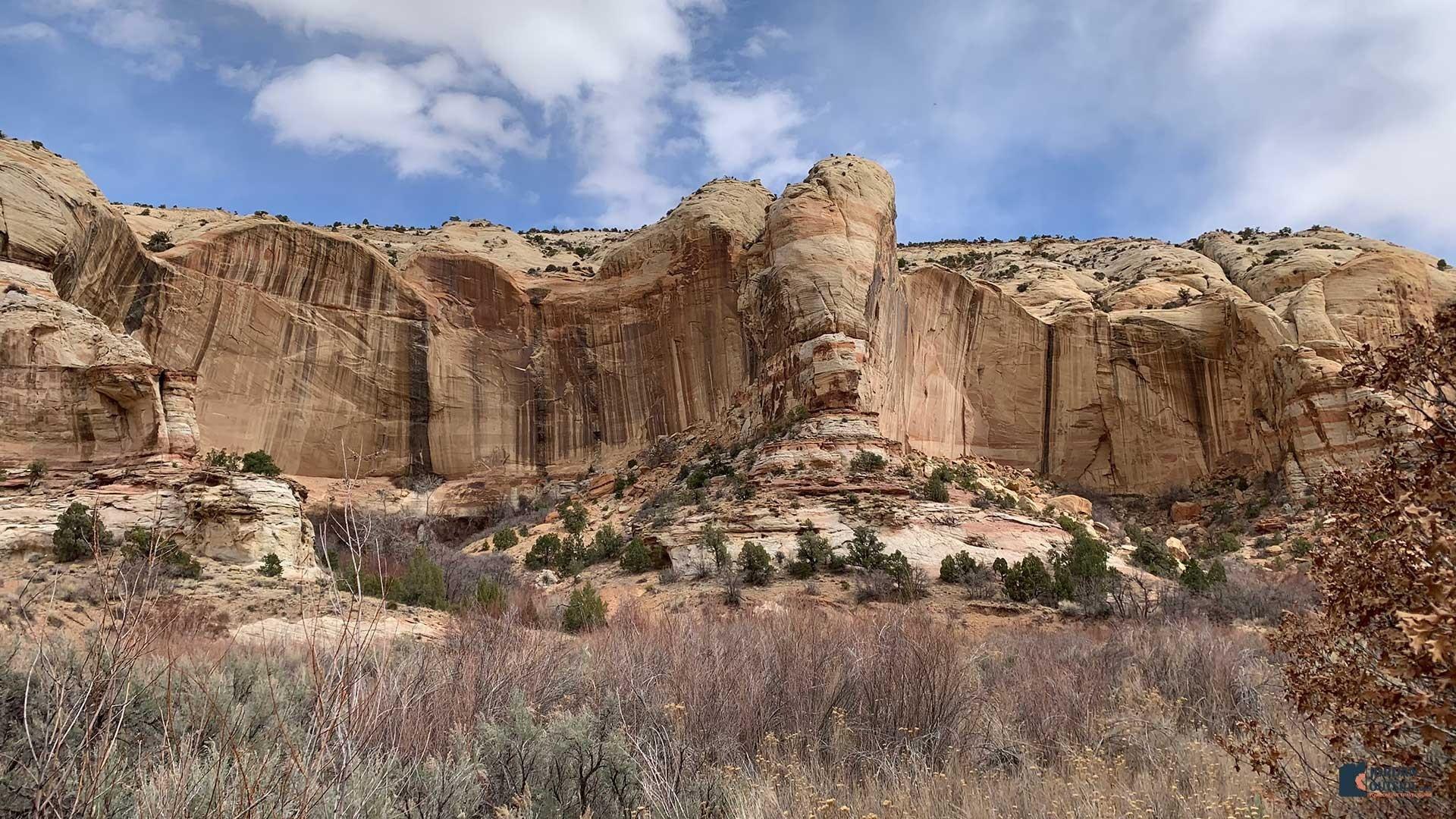 Rock Cliffs at the Lower Calf Creek Falls Trail