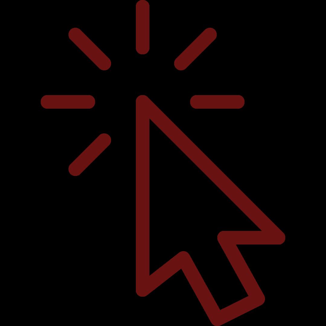 Red computer mouse cursor (arrow)