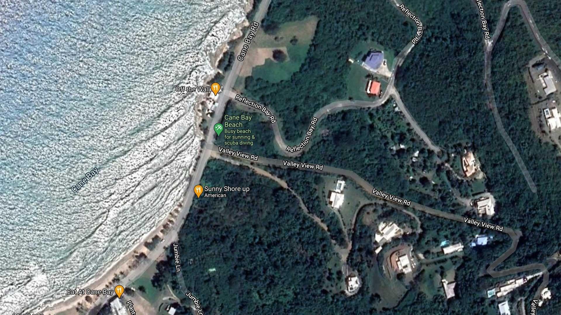 Cane Bay Beach Map