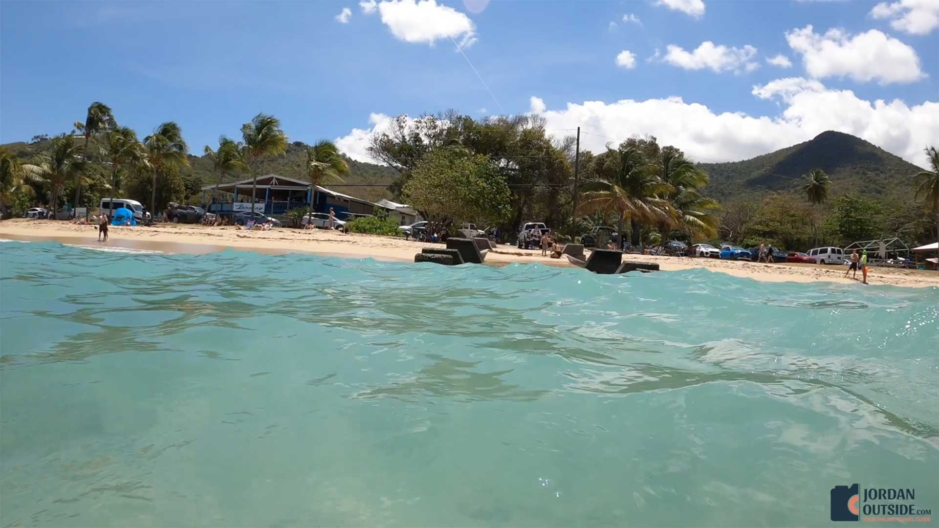 Pier View at from the ocean at Cane Bay Beach, St. Croix