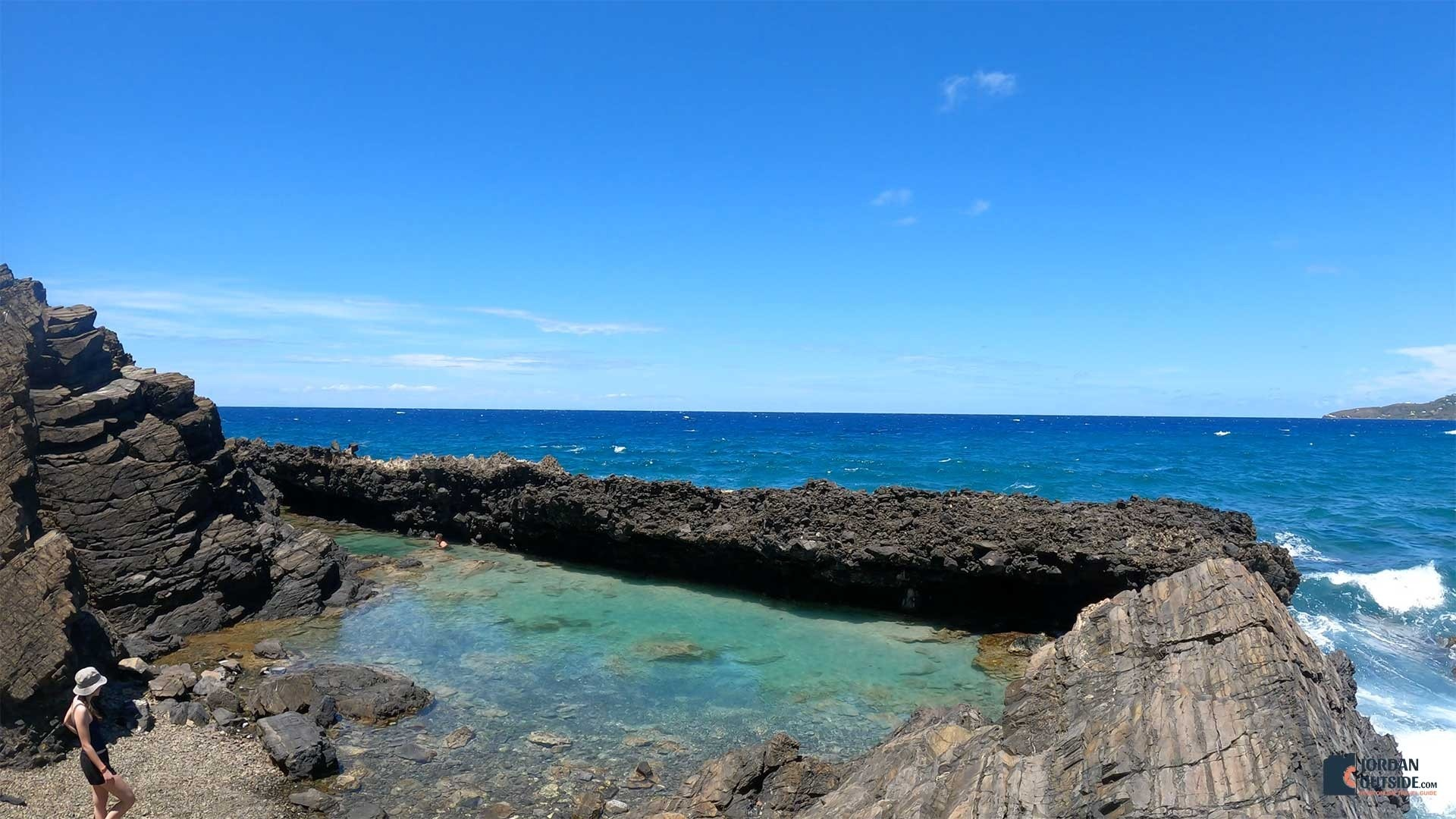 The view of the tide pools from the climb