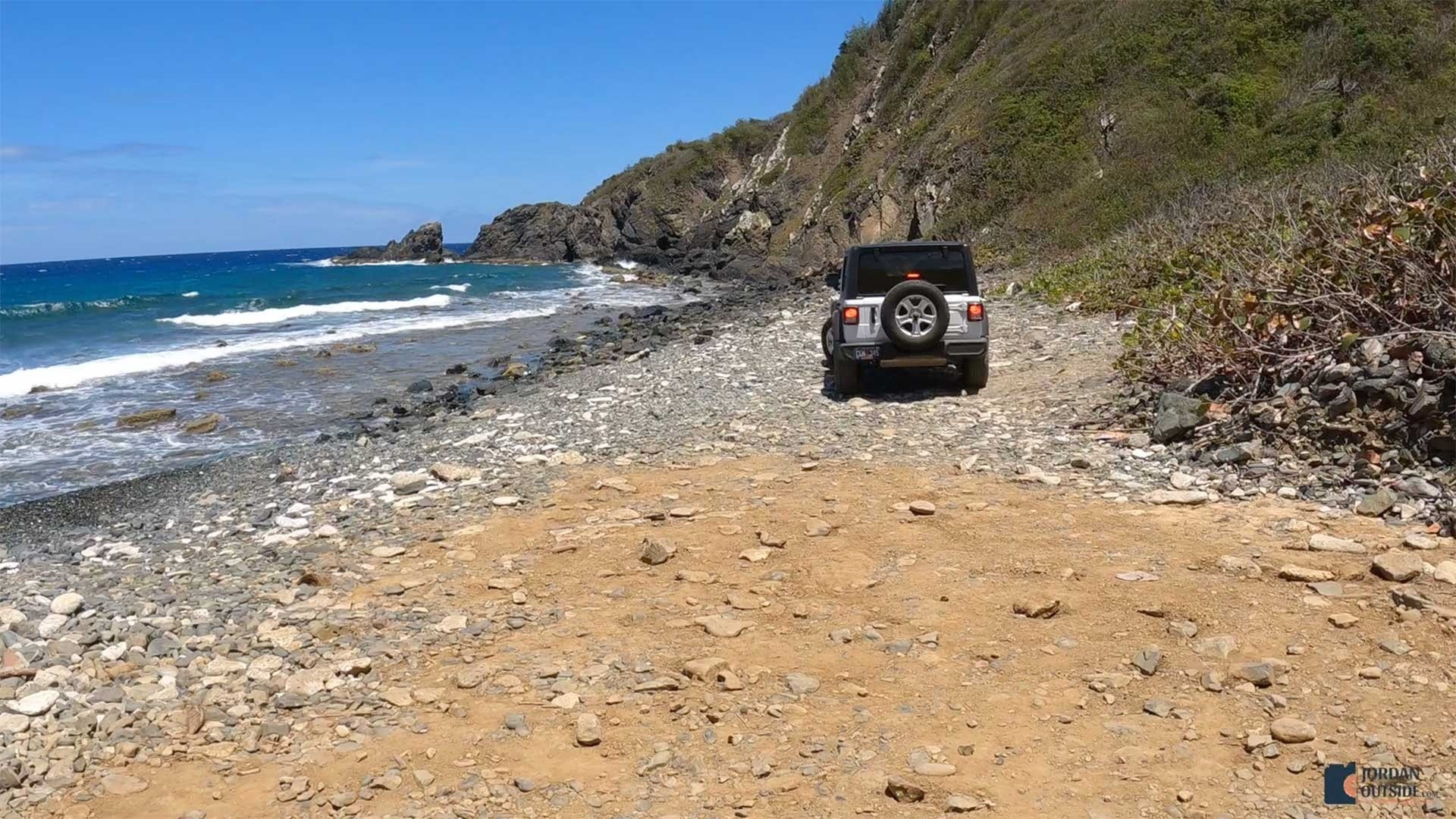 Parking on the beach at Annaly Bay