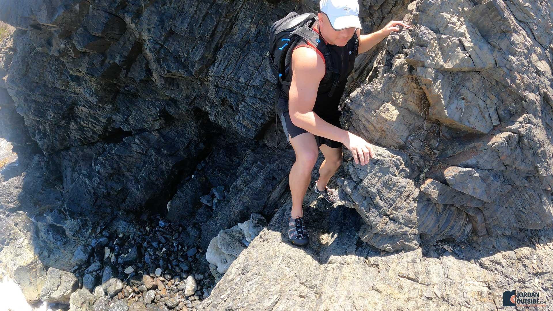 Jordan Climbing Rocks at Annaly Bay Tide Pools