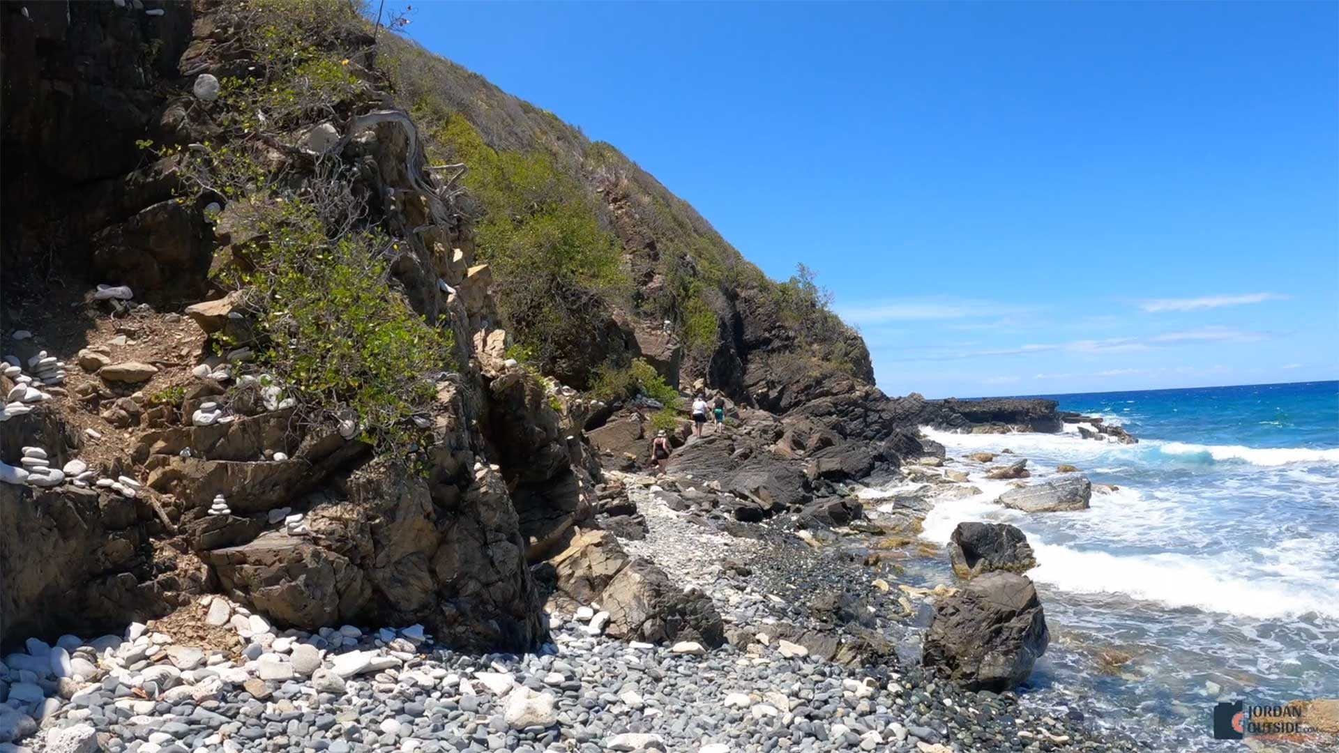 The trail to the Tide Pools of Annaly Bay