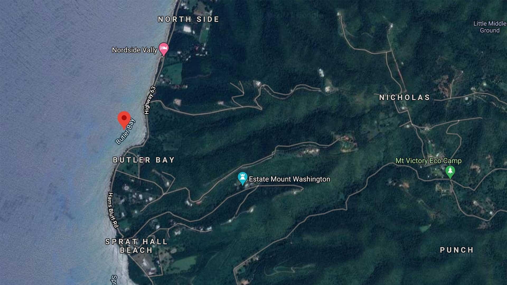 Butler Bay Beach Map