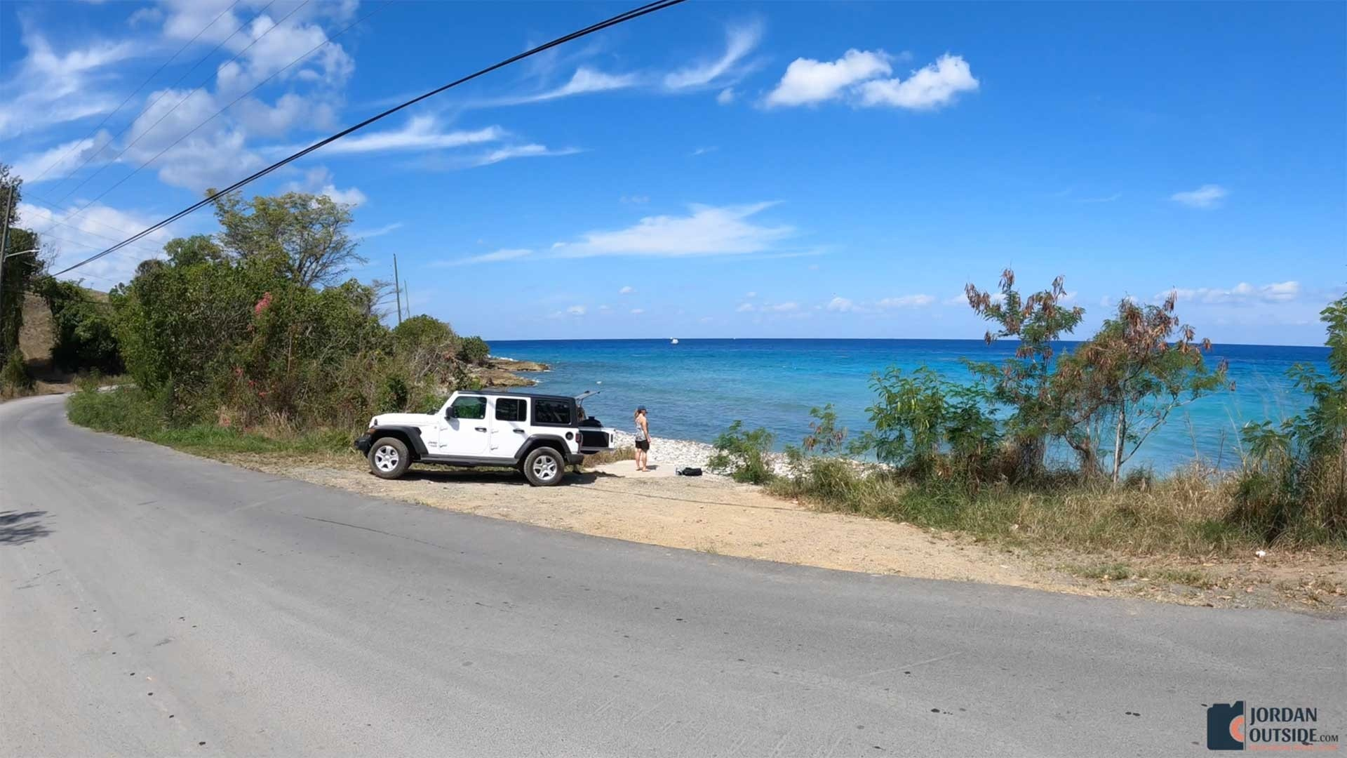 Parking Area at Butler Bay Beach, St. Croix