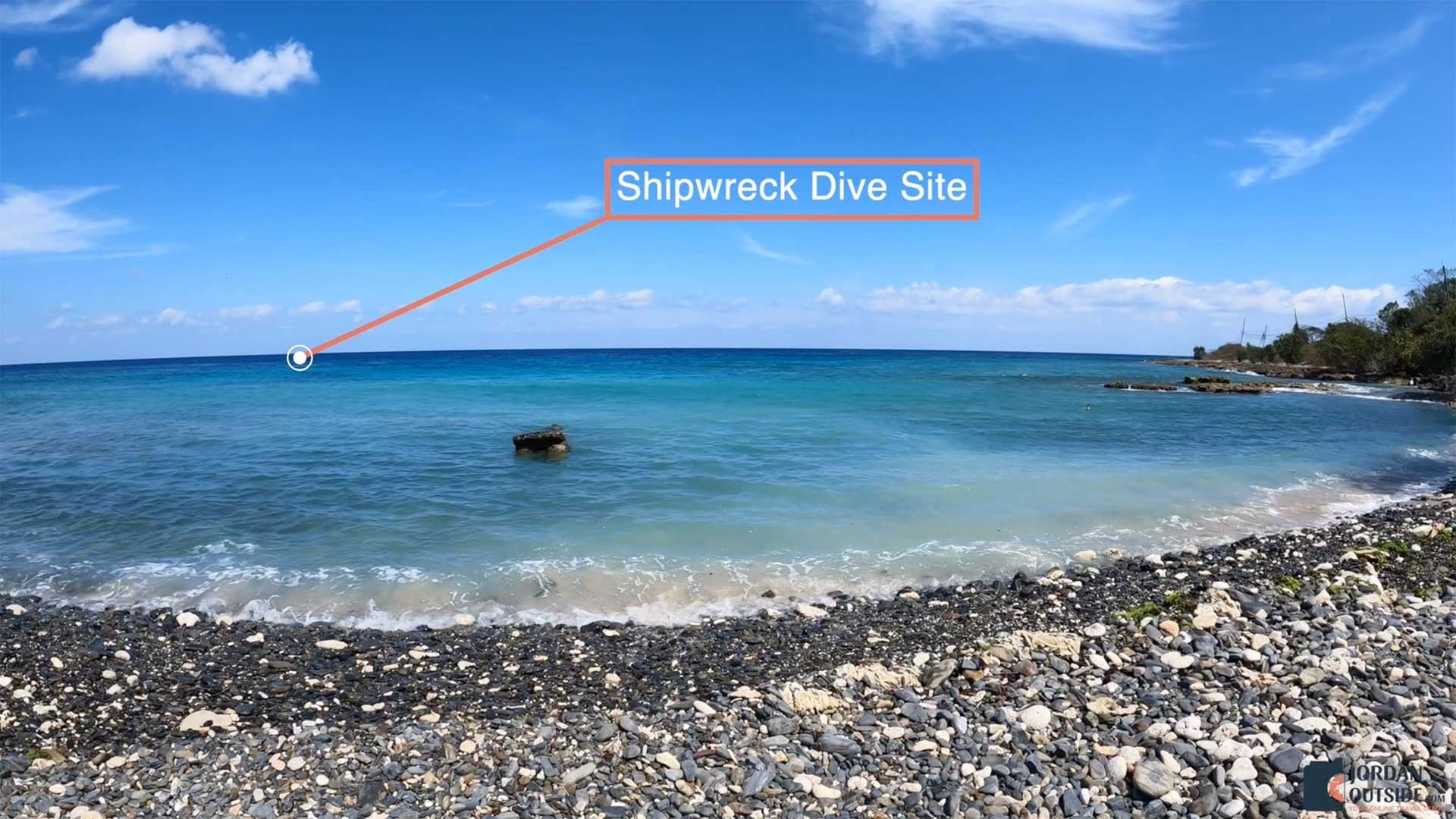 View of Shipwreck Dive Site at Butler Bay Beach, St. Croix
