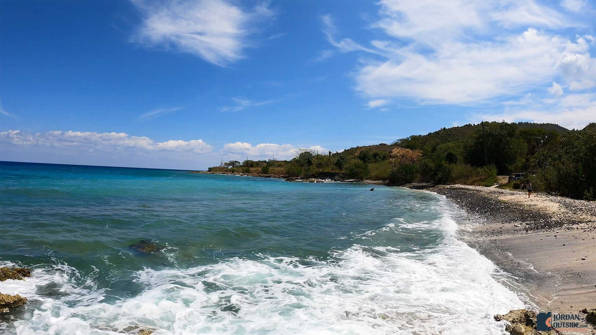 Side view of Butler Bay Beach, St. Croix