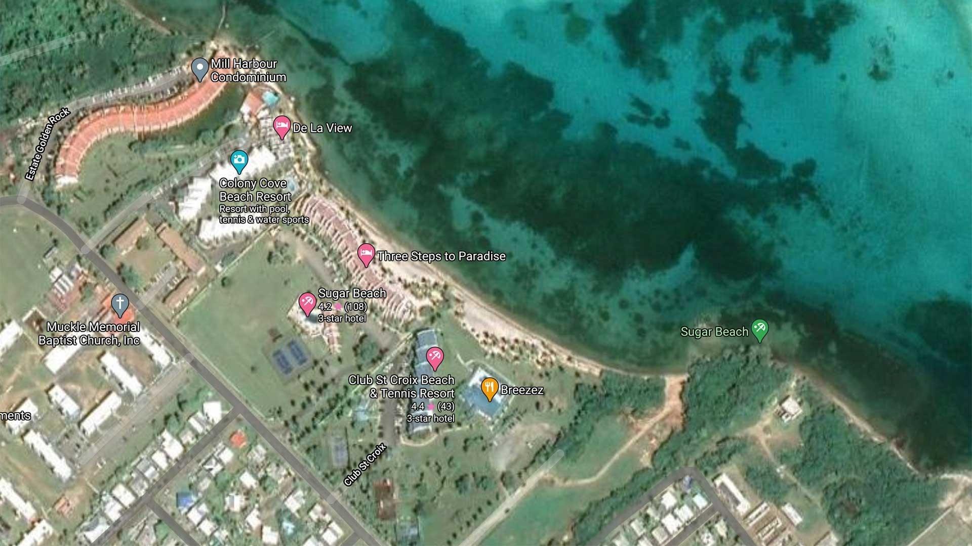 Sugar Beach Map