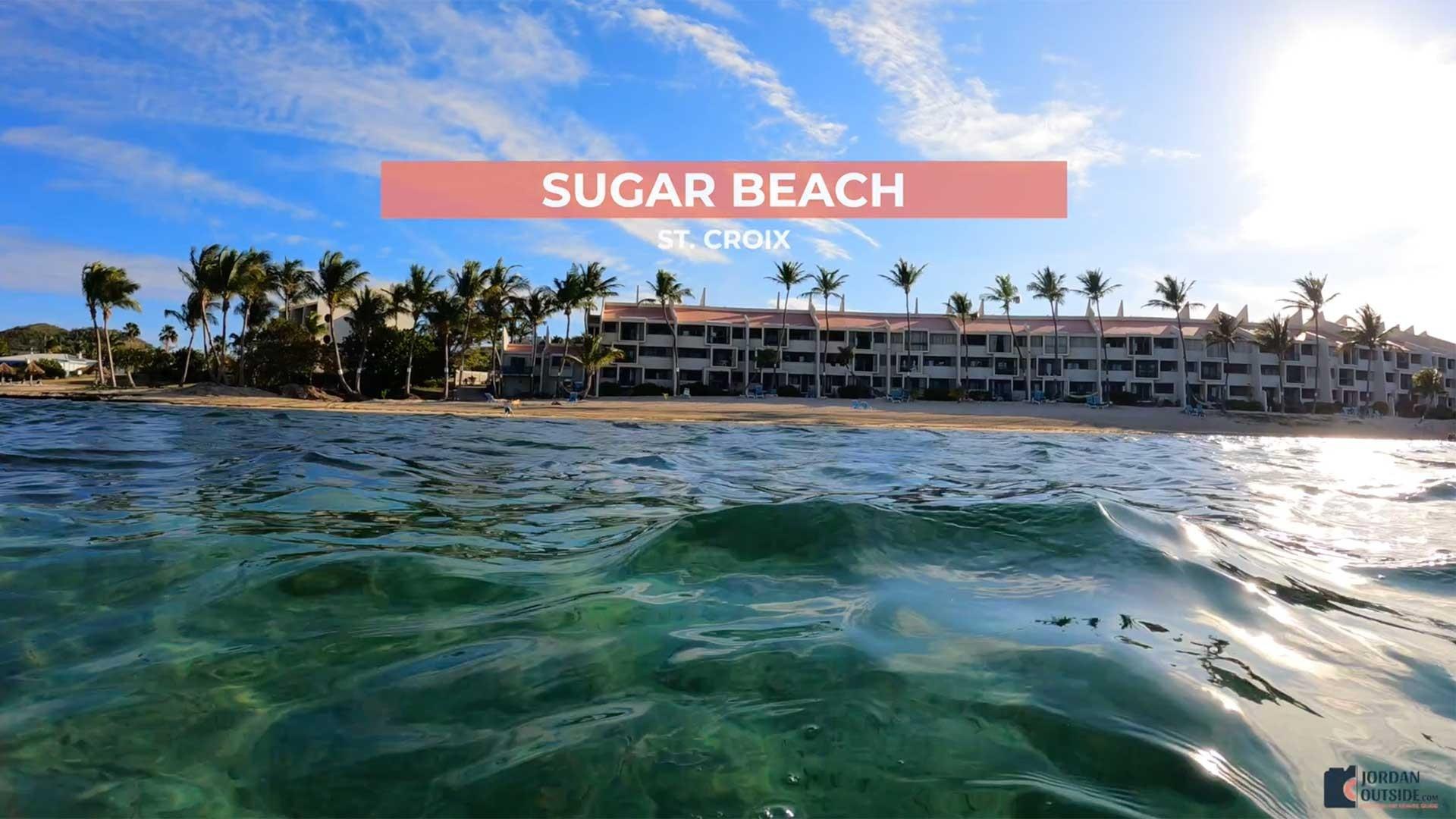 Sugar Beach view from the ocean, St. Croix