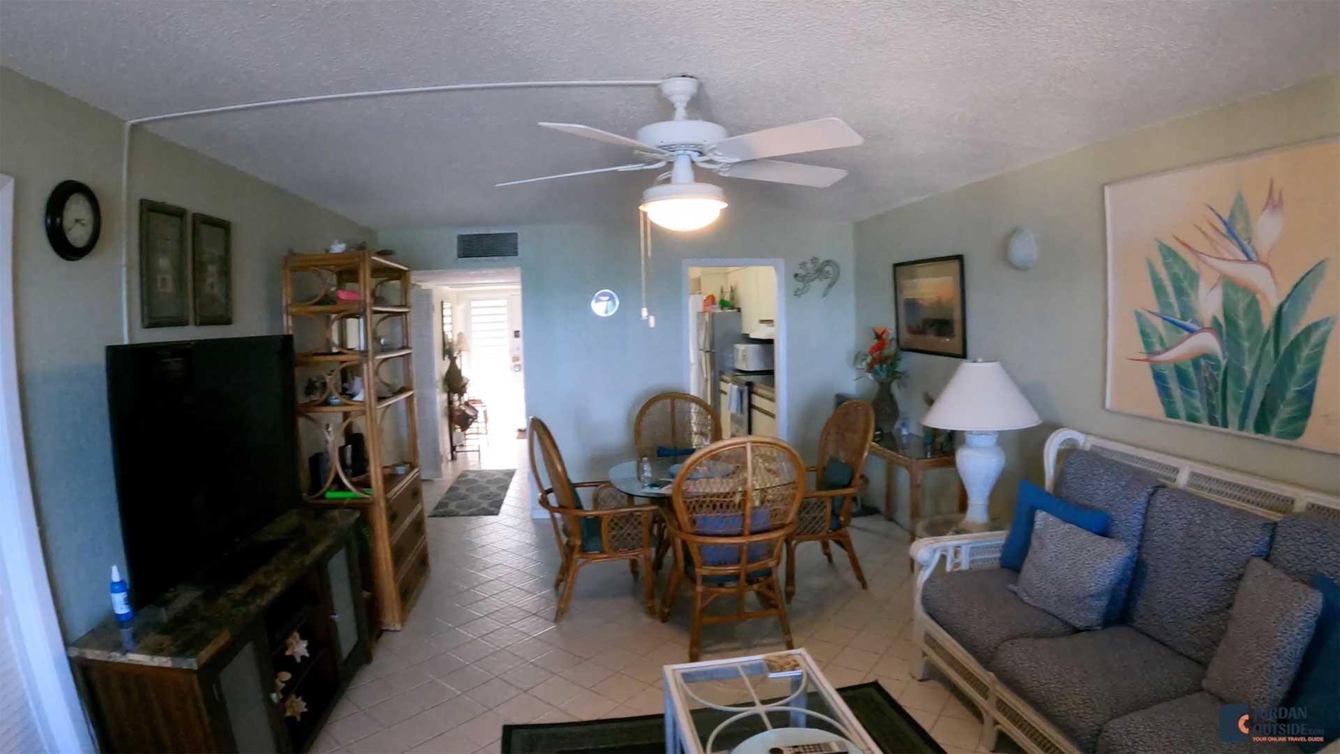 Living Room at Sugar Beach Condos Unit 207
