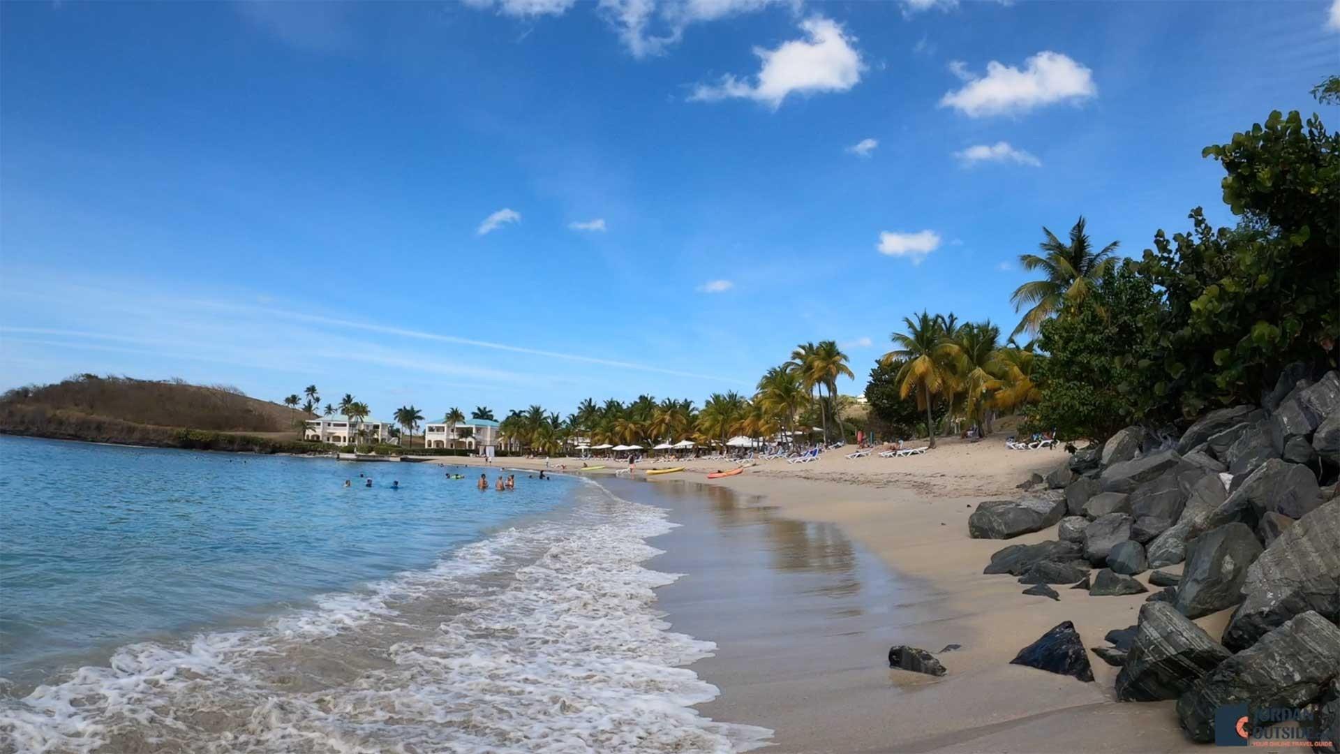 The end of Mermaid Beach in St. Croix