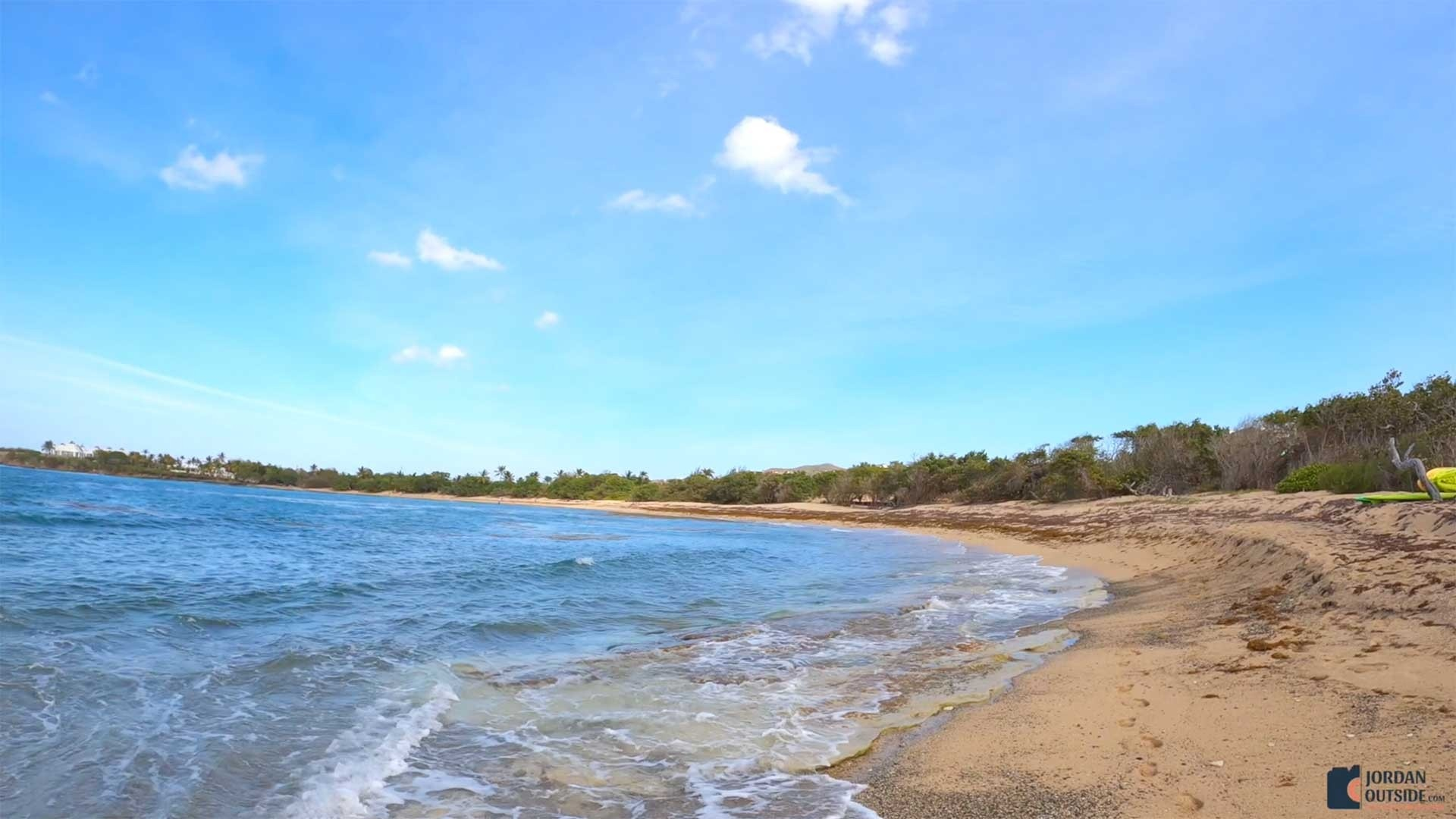 The view from the end of Shoy's Beach