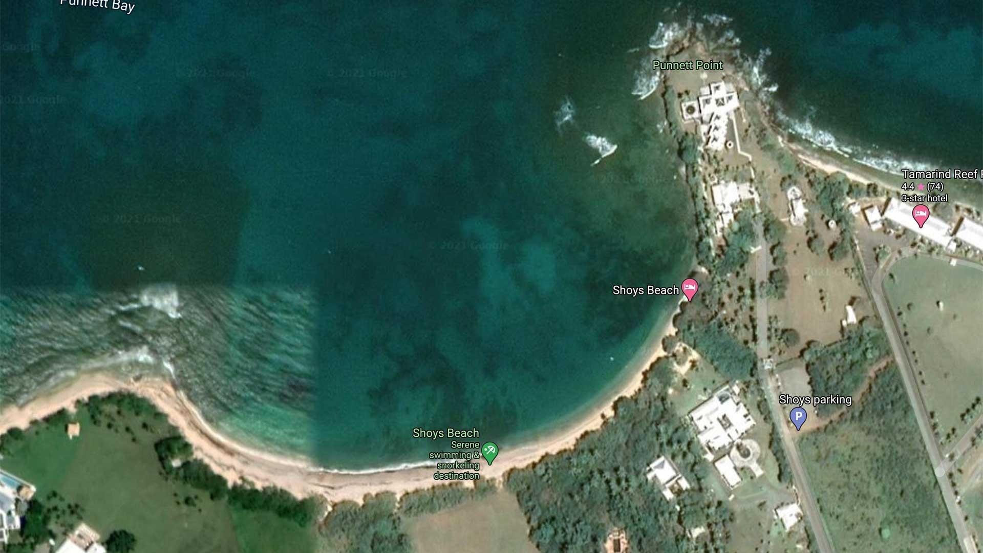 Shoys Beach Map