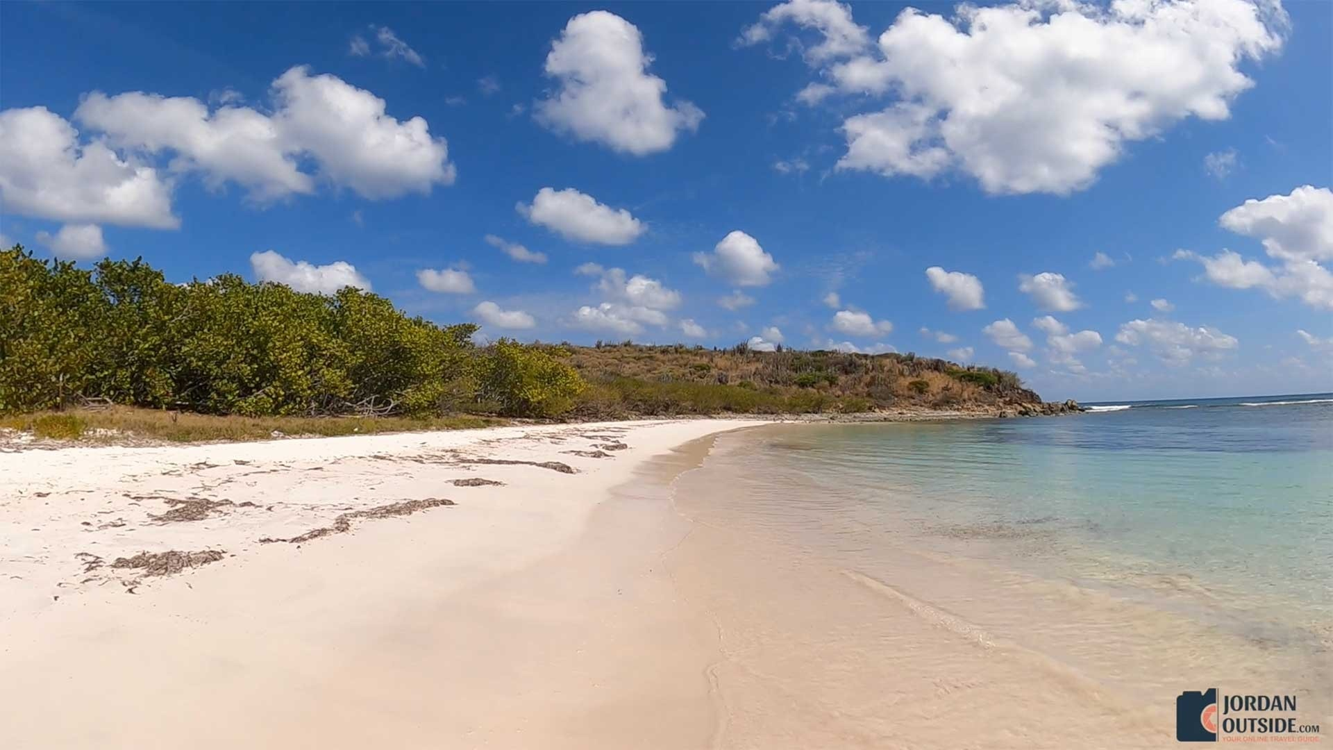 End of Jack's Bay Beach, St. Croix
