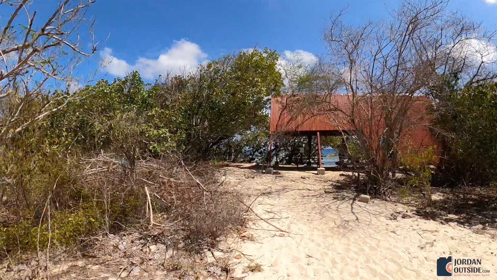 Red Pavilion at Jack's Bay Beach, St. Croix
