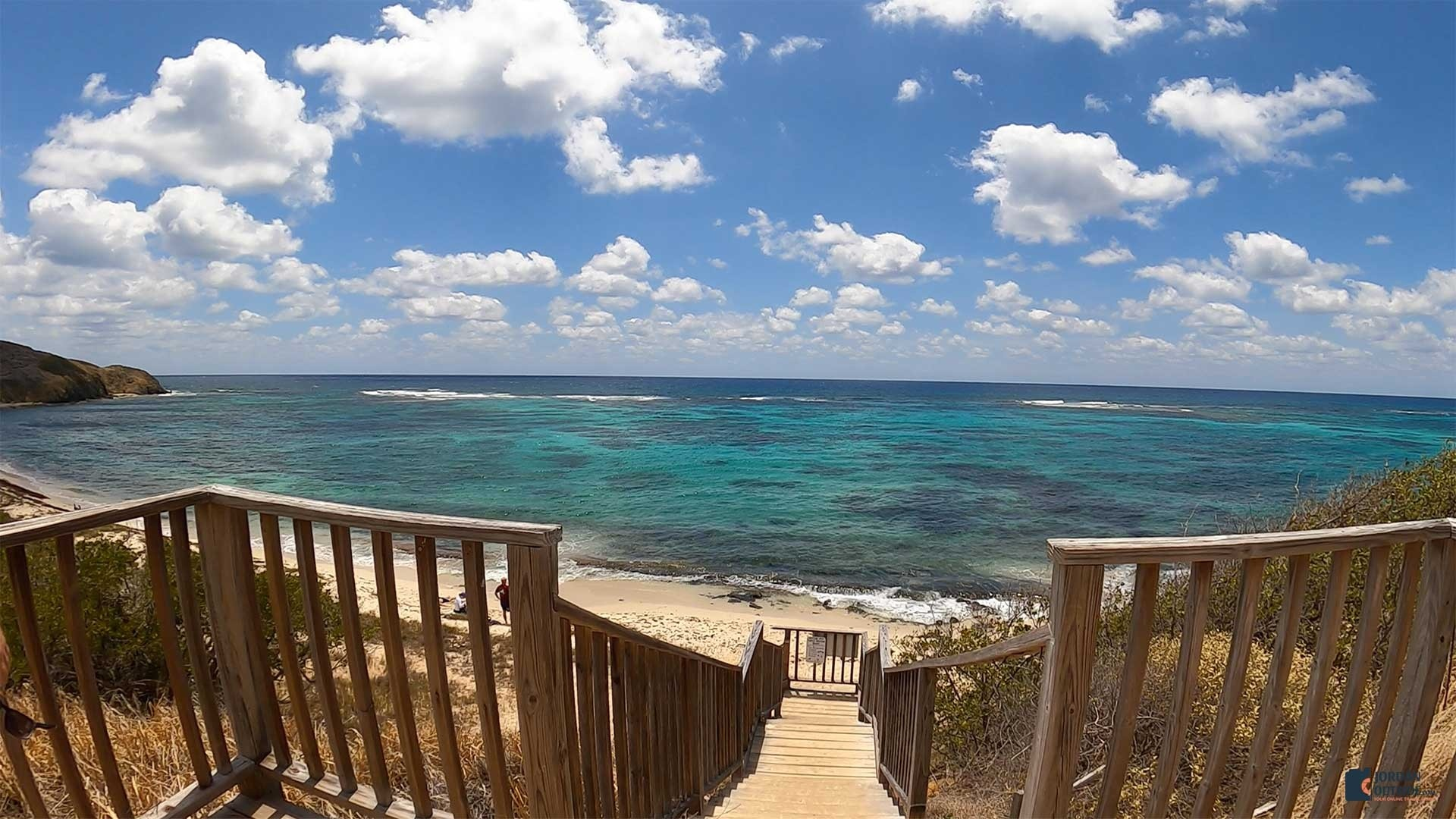 Stairs down to Isaac's Bay Beach, St. Croix